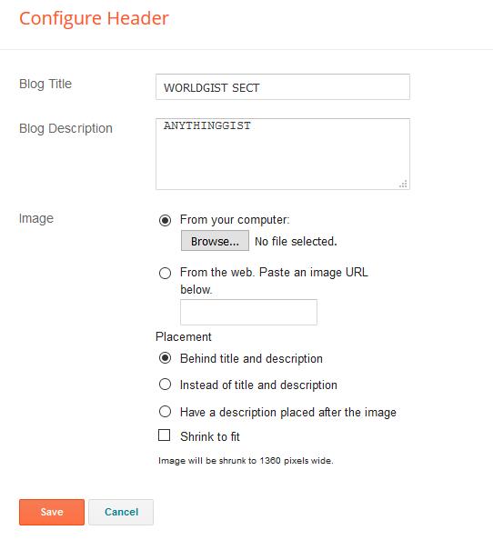 header set up blogger