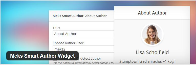 smart mek author widget