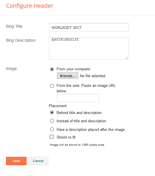 header set up blogger