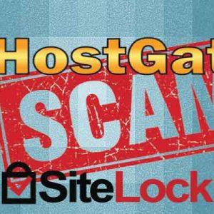 hostgator and sitelock scam